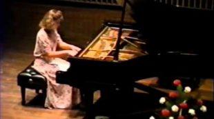 Amy Skjei performing Liebestraum by Franz Liszt 1991 High School senior Recital