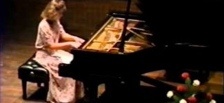 Amy Skjei performing Liebestraum by Franz Liszt 1991 High School senior Recital
