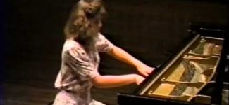 Amy Skjei performing Chopin's Scherzo in B flat Minor 1991