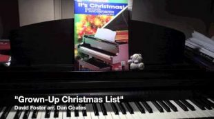 """Grown-Up Christmas List"" (David Foster arr. Dan Coates) – solo piano [HD]"